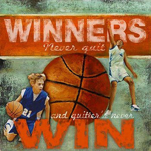 "Basketball ""Winners/Quitters"" Motivational Poster Print - Image Source"