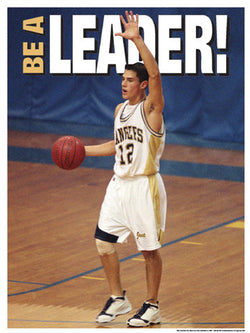 "High School Basketball ""Be a Leader"" Motivational Poster - Fitnus"