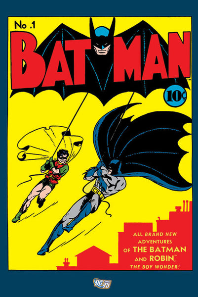 Batman #1 (Spring 1940) Official DC Comics 75th Anniversary Cover Poster Reproduction - Pyramid International