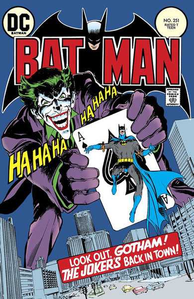 "Batman Vol. 1 No. 251 (1973) ""Joker's Five-Way Revenge"" Official Cover Reprint Poster"