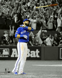 "Jose Bautista ""The Bat Flip"" Toronto Blue Jays 2015 ALDS Premium Poster Print - Photofile"