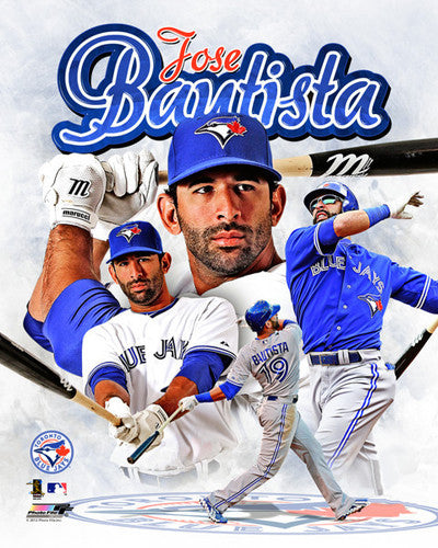 "Jose Bautista ""Superstar"" Toronto Blue Jays Premium Poster Print - Photofile 16x20"