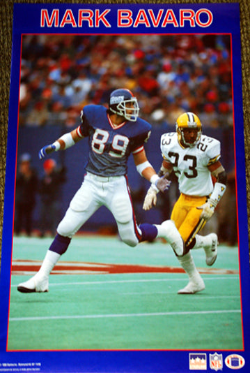 "Mark Bavaro ""Superstar"" New York Giants Vintage Original NFL Poster - Starline 1988"