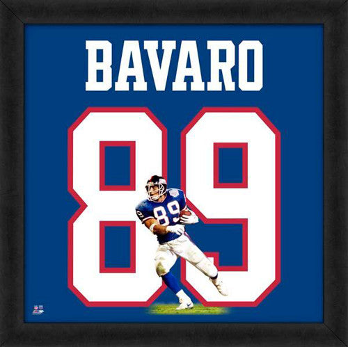 "Mark Bavaro ""Number 89"" New York Giants NFL FRAMED 20x20 UNIFRAME PRINT - Photofile"