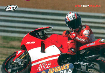 "Troy Bayliss ""Superbike Action"" Ducati Motorcycle Racing Poster - Suomy"