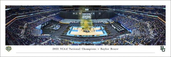 Baylor Bears 2021 NCAA Men's Basketball Champions Panoramic Poster Print - Blakeway