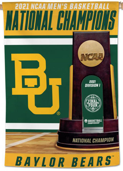 Baylor Bears 2021 NCAA Men's Basketball Champions Official Wall BANNER Flag - Wincraft Inc.