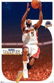 "Baron Davis ""Superstar"" Golden State Warriors Poster - Costacos 2007"
