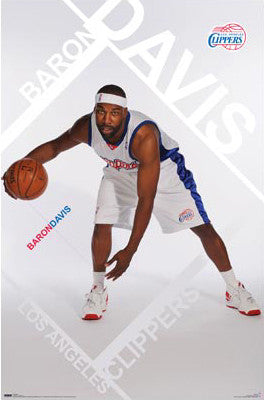 "Baron Davis ""Bring It!"" Los Angeles Clippers Poster - Costacos 2008"