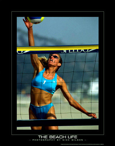 """The Beach Life"" (At the Net) - SportsPosterWarehouse.com"