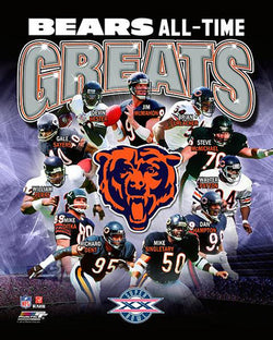 "Chicago Bears ""All-Time Greats"" (11 Legends) Premium Poster Print - Photofile Inc."
