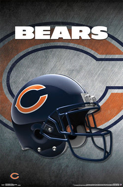 Chicago Bears Official NFL Football Team Helmet Logo Poster - Trends International