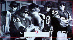 "Chicago Bears ""Big Five"" Offensive Line Poster - WGN/Chevy 1989"