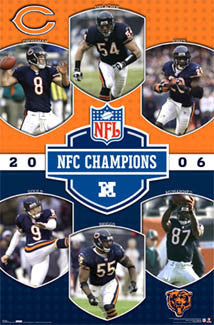 Chicago Bears NFC Champions 2006 Commemorative Poster - Costacos Sports