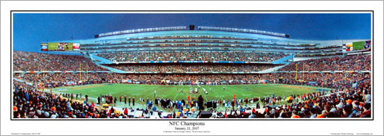 "Chicago Bears ""NFC Champions"" (Soldier Field 1/21/2007) Panoramic Poster Print"