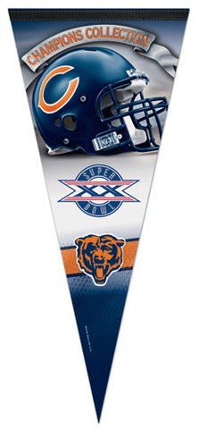 Chicago Bears Super Bowl XX Commemorative EXTRA-LARGE Premium Pennant