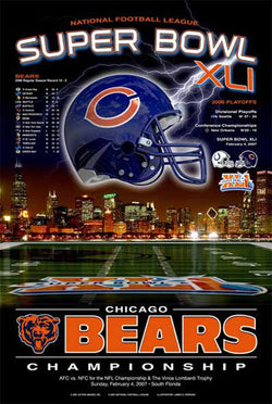 "Chicago Bears ""Super Season XLI"" Commemorative Poster - Action Images 2007"