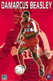 "DaMarcus Beasley ""On Fire"" Chicago Fire MLS Soccer Poster - S.E. 2003"