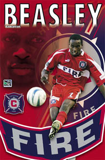 "DaMarcus Beasley ""Action"" Chicago Fire MLS Poster - S.E. 2004"