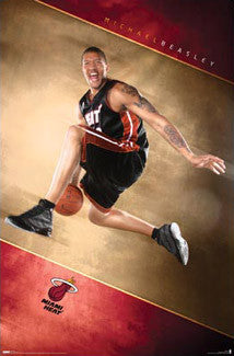 "Michael Beasley ""Launch"" Miami Heat Poster - Costacos 2008"