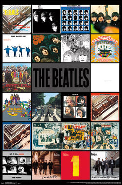 The Beatles All 22 LP Album Covers Official Music Poster - Trends International
