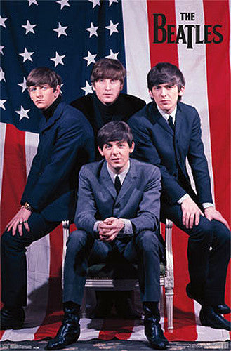 The Beatles Take America (1964) Classic Music Poster - Trends International