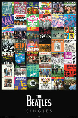 The Beatles Singles Poster (42 Covers) - Aquarius Images