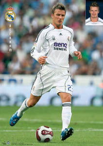 "David Beckham ""Real Star"" Real Madrid Soccer Action Poster - CPG 2007"