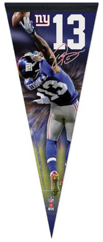 "Odell Beckham Jr. ""Signature Series"" New York Giants Premium Felt Collector's PENNANT - Wincraft"