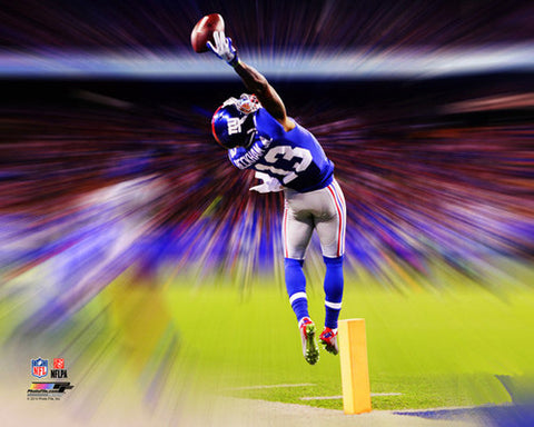 "Odell Beckham Jr. ""Catch of the Century"" (NY Giants 2014) Premium Motion Blast Poster - Photofile"