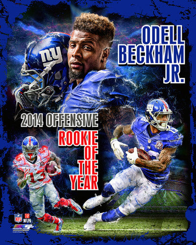 Odell Beckham Jr. 2014 NFL Offensive Rookie of the Year New York Giants Premium Poster Print