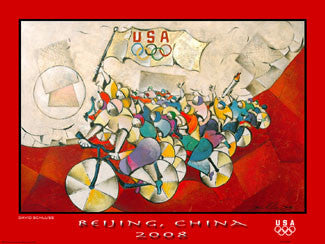"Olympic Cycling ""We are the Champions"" (Beijing 2008) Poster - Fine Art Ltd."