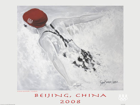USA Olympic Swimming Poster (Beijing 2008) - Fine Art Ltd.