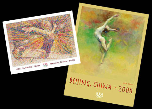 USA Olympic Team Beijing 2008 Gymnastics 2-Poster Combo - Fine Art Ltd.