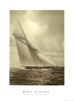 "Beken of Cowes ""White Feather 1914"" Classic Yacht Poster - The Art Group 2004"