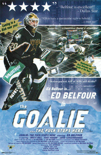 "Ed Belfour ""The Goalie"" Dallas Stars NHL Hockey Poster - Costacos 2000"