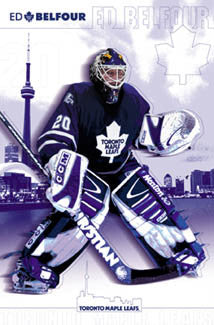 "Ed Belfour ""Toronto Blue"" Toronto Maple Leafs Poster - Costacos 2002"