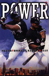 "Frank Thomas Albert Belle ""Power Squared"" Chicago White Sox Poster - Costacos 1997"
