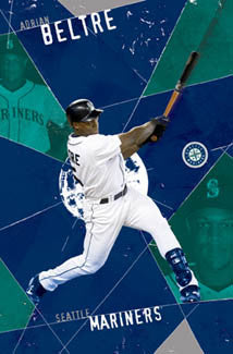 "Adrian Beltre ""Belted"" Seattle Mariners Poster - Costacos 2005"