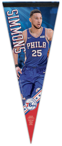 "Ben Simmons ""Superstar Series"" Philadelphia 76ers NBA Basketball Premium Felt Pennant - Wincraft 2019"