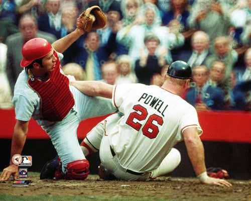 Johnny Bench vs. Boog Powell (1970 World Series) Cincinnati Reds vs Baltiomre Orioles Poster - Photofile