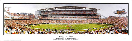 Cincinnati Bengals Paul Brown Stadium Inaugural Game Panoramic Poster (2000) - Everlasting Images