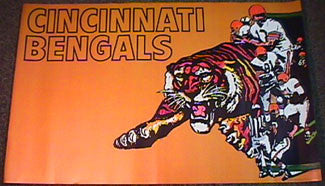 Cincinnati Bengals NFL Collectors Series Theme Art Poster (1970 Vintage Original)