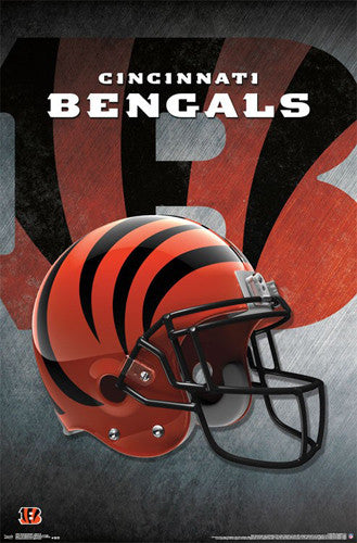 Cincinnati Bengals Official NFL Football Team Helmet Logo Poster - Trends International