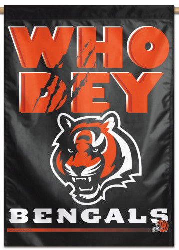 Cincinnati Bengals WHO DEY Official NFL Football Team Logo Motto Wall BANNER - Wincraft Inc.