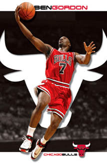 "Ben Gordon ""Brilliant"" Chicago Bulls Poster - Costacos 2007"