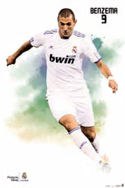 "Karim Benzema ""SuperAction"" Real Madrid Soccer Poster - G.E. (Spain) 2011"