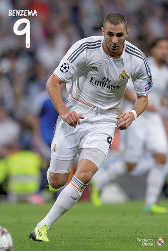 "Karim Benzema ""Superstar"" Real Madrid CF Official La Liga Soccer Poster - G.E. (Spain)"
