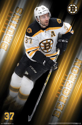 "Patrice Bergeron ""Superstar"" Boston Bruins Official NHL Hockey Poster - Trends International 2017"