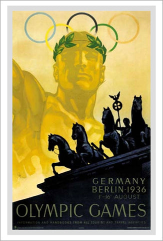 Berlin Germany 1936 Summer Olympic Games Official Poster Reprint - Olympic Museum